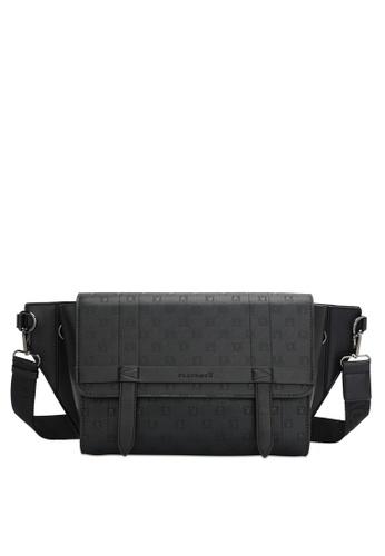 Playboy black Men's Sling Bag / Chest Bag / Crossbody Bag 197A4AC1DA93BEGS_1
