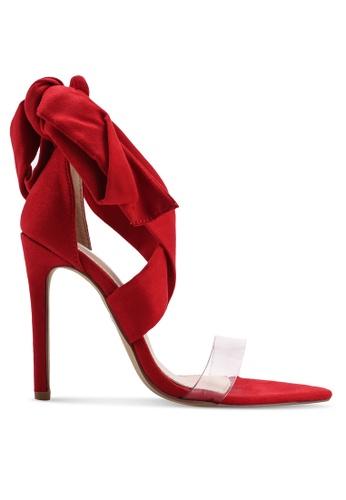Public Desire 紅色 Hotspot 綁帶高跟鞋 7E220SH0713E31GS_1