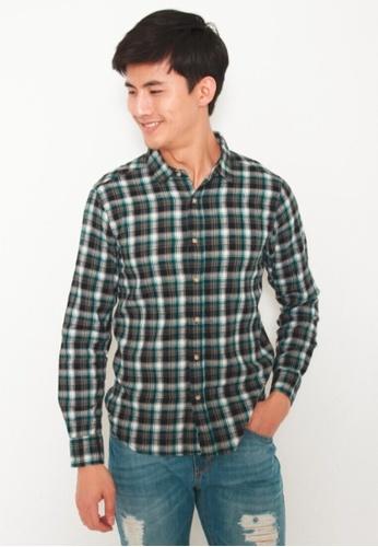 DENIZEN green Denizen Men Long Sleeve Regular Woven Shirt DZ-39031-0745 40E4EAA1C150C0GS_1