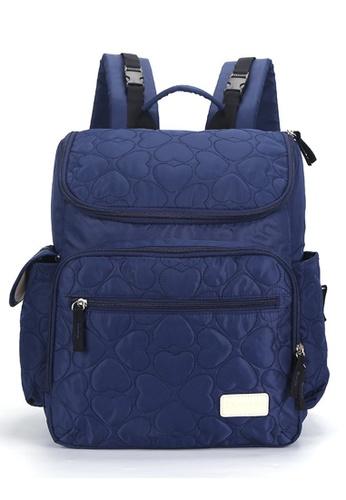 Jackbox blue Leke Baby Multi Function Large Capacity Wider Size Diaper Mama Papa Bag Backpack 755-Blue C0DFCACDE8915DGS_1