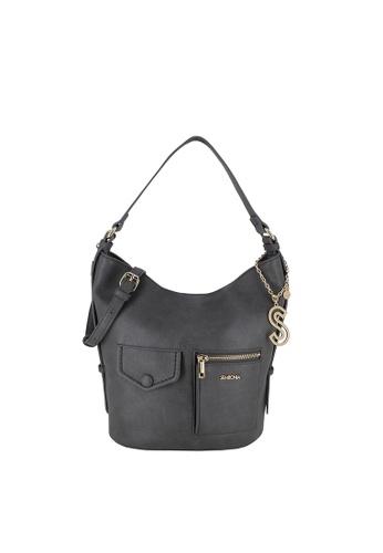 SEMBONIA grey Adjustable Shoulder Strap Hobo Bag 8B9E9AC9E9F964GS_1