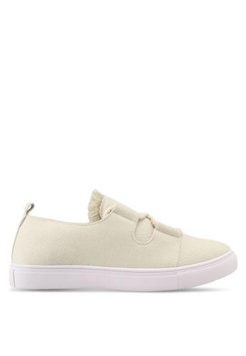 ZALORA white Raw Edge Tassel Sneakers 51255SH67A73D0GS_1