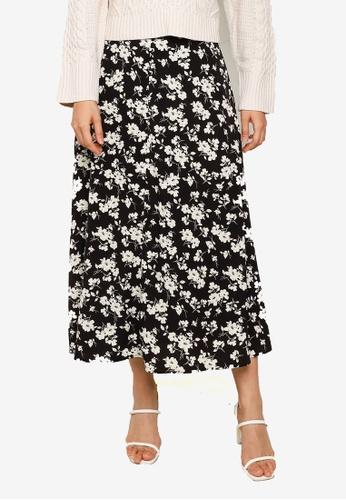 LOWRYS FARM black Patterned Skirt 56D87AA0383D23GS_1