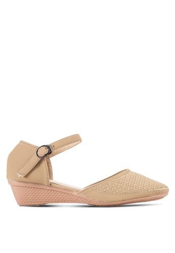 Spiffy 褐色 繞踝楔型鞋 SP352SH40SDRMY_1