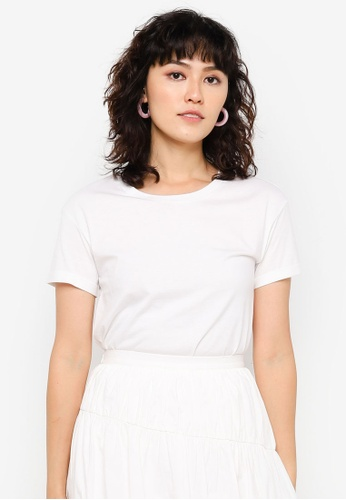 Urban Revivo white Basic Short Sleeve T-Shirt 0B707AA57B15CDGS_1