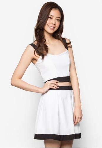 Jesprit台灣網頁oy 短版細肩帶短裙套裝, 服飾, 上衣