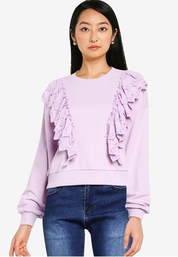 ONLY purple Ofelia Life Sweatshirt 5899DAAA0538F4GS_1