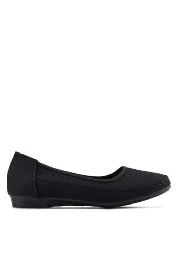 Louis Cuppers black Perforated Flats LO977SH55EOIMY_1