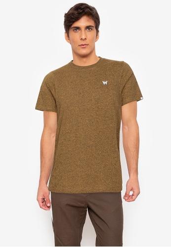 Wrangler yellow Round Neck Jaspee Cotton T-Shirt F7B8BAA289ABA6GS_1