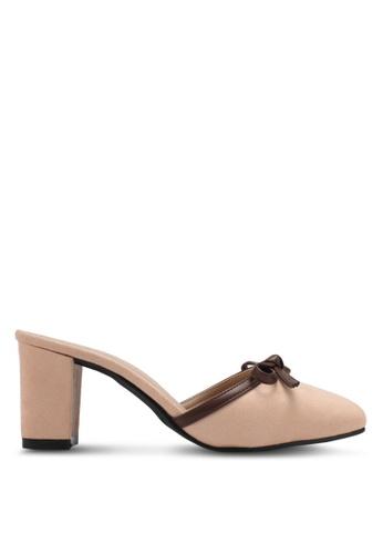 Spiffy beige Evening Trendy Block Heels SP352SH0SRYHMY_1