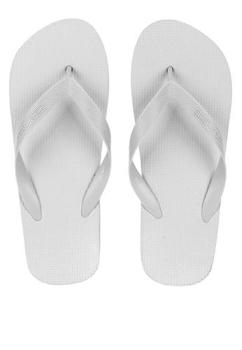 Penshoppe grey Basic Flip Flops EBC31SH9A5C68AGS_1