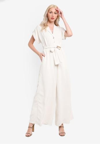 Mink Pink white Wide Leg Boiler Suit 1B09DAA0B5F25CGS_1