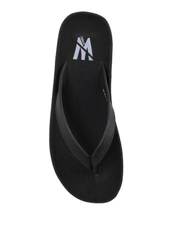 Minarno black Black Basic Faux Leather Sandals MI641SH49SHIID_1