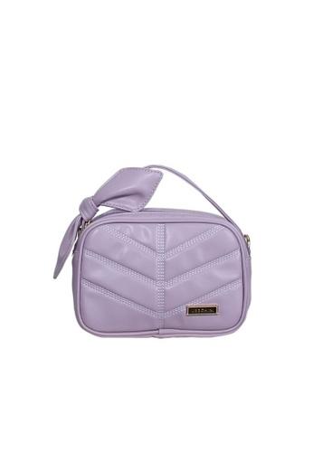Verchini purple Verchini Top Zip Bow Sling Bag 86F0AAC43DA1D6GS_1