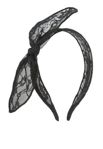 Usamiesprit outlet 台灣mi 蝴蝶結蕾絲髮箍, 飾品配件, 髮飾