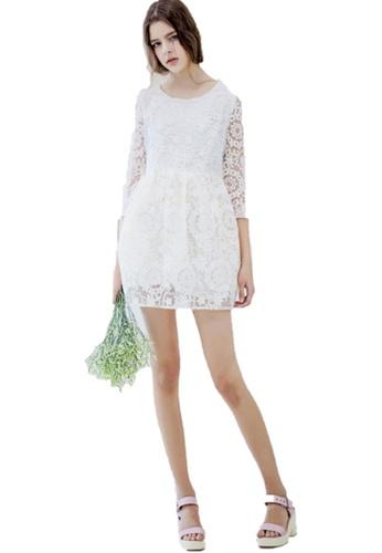 Sunnydaysweety white Super Sale Simple Shadow Stitch Dress A022404W-0 4568FAA9630579GS_1
