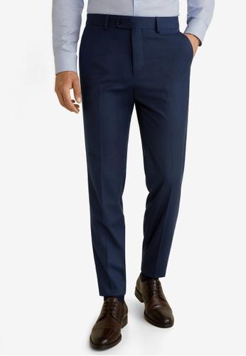Mango Man 藍色 修身西裝褲 65AA2AAAB3B0A6GS_1