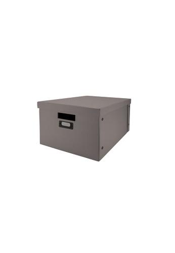 Milton Home grey SET OF 2 Milton Home MH BD0522-C Foldable Box (S)  29.4X39.2X23.5 / Home Organizer / Space Saver / Storage 58CE0HL3FC160BGS_1