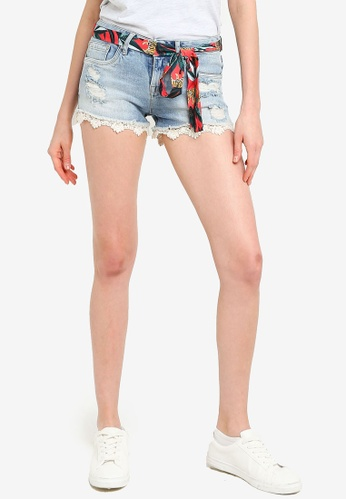SUPERDRY blue Lace Hot Shorts 6FBEAAA7AD5CAFGS_1