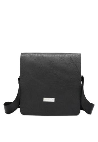 Swiss Polo 黑色 Structured 斜背包 CE719AC5801D4BGS_1