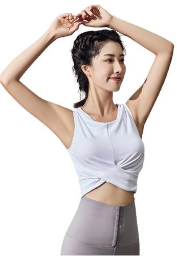 Trendyshop white Quick-Drying Yoga Fitness Sports Sleeveless Bras 7DBC8US8DB6F38GS_1