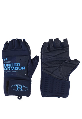 Under Armour blue Graphic Weightlifting Gloves 46E5BAC418EF9AGS_1