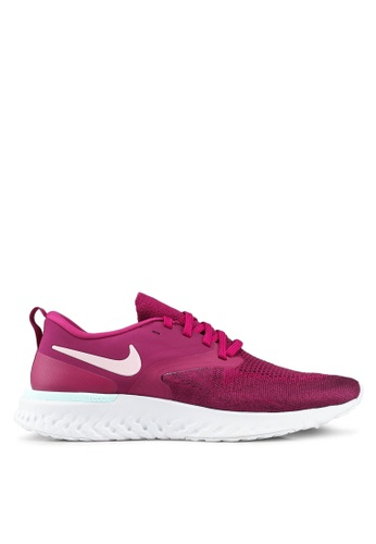 Nike red Nike Odyssey React Flyknit 2 Shoes 0EFA2SHDCE3505GS_1