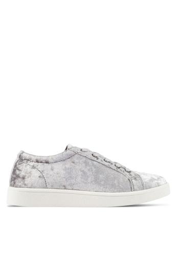 ZALORA silver Velvet Sneakers 23D79SHF542CDDGS_1