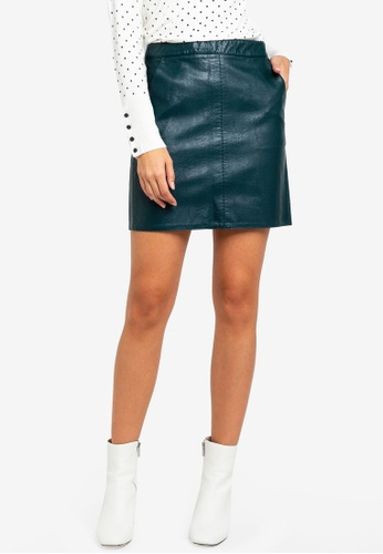 8e1945ba5f Buy Dorothy Perkins Green Pu Pocket Mini Skirt | ZALORA HK