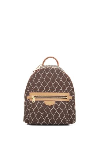 BONIA beige Beige Twinenet II Patterned Backpack CFBDEAC83AAB1AGS_1