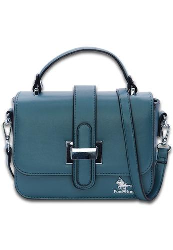 POLO HILL green and blue POLO HILL Sally Satchel Sling Bag CDD79AC6B36EFFGS_1