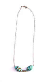 Spiral Turquoise Necklace