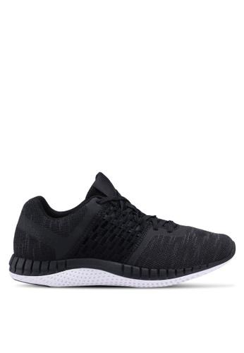 Reebok black and grey and white Reebok Print Run Distance Shoes RE691SH0SVZZMY_1