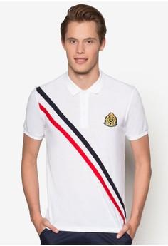 Collegiate 斜條紋POLO 衫