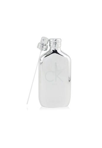 Calvin Klein CALVIN KLEIN - CK One Eau De Toilette Spray (Platinum Edition) 100ml/3.4oz C29C3BE02E10D1GS_1