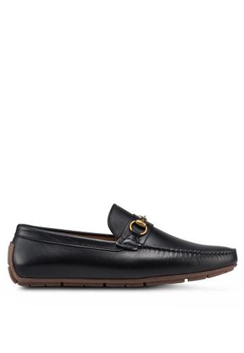 Carlton London black Chain Detail Loafers 2EA1DSHB3C0104GS_1