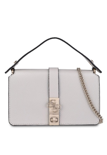 GUESS grey Albury Mini Crossbody Flap Bag B0BA3AC7C4D8B0GS_1