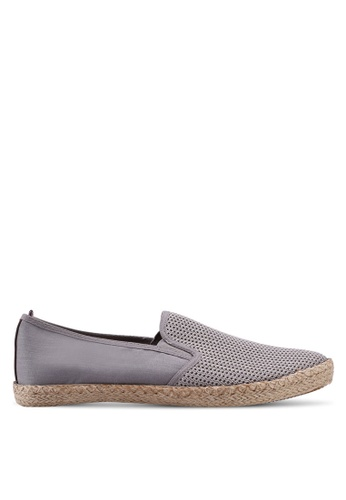 Burton Menswear London grey Grey Mesh Slip On Plimsolls D7606SH1BADC11GS_1
