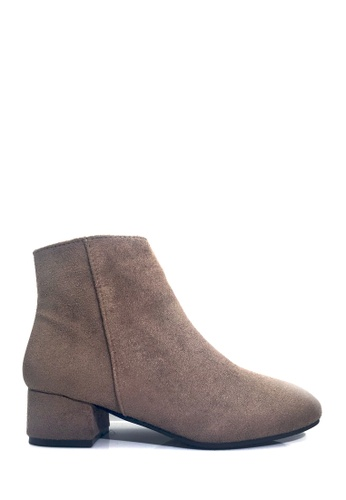 Twenty Eight Shoes brown Casual Block-Heel Ankle Boots VB8323 3C7F8SH36D5356GS_1