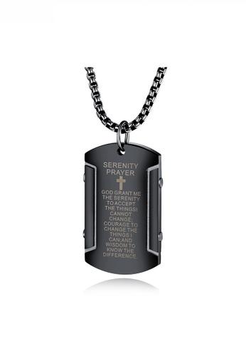 HAPPY FRIDAYS Religious Words Army Necklace JW OK-1556 8AB2DAC5DE0305GS_1