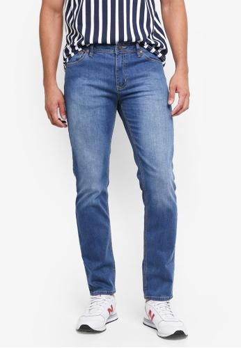 Penshoppe blue Slim Fit 5-Pocket Jeans 71603AABAC12E0GS_1