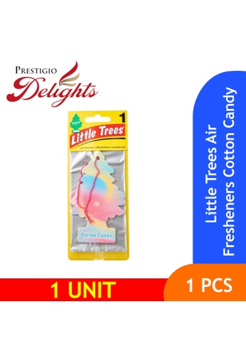 Prestigio Delights pink and orange and yellow and blue and multi and navy Little Trees Air Fresheners Cotton Candy F0289ESC7A8C97GS_1