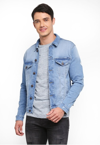 Only & Sons blue Storm Denim Jacket B0351AAC17A040GS_1