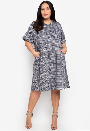 RUESALIDOU multi Plus Size Dawn V-Neck Dress DA221AA1A2B820GS_1