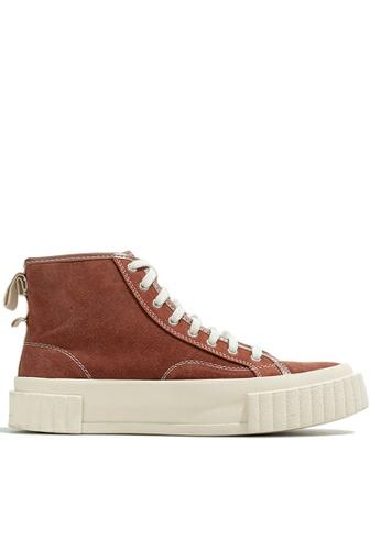 Twenty Eight Shoes High Top Suede Cattle Hide Sneakers XO-G99 A1A6CSHB6D01A1GS_1