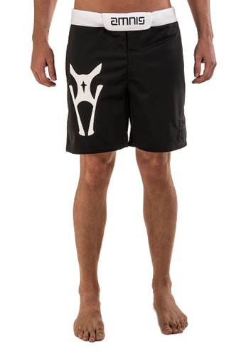 "AMNIG black Men Fighter Shorts-20"" Black White AM133AA27LGMMY_1"