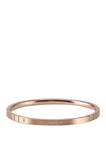 agnès b. gold Stainless Steel Rose Gold Bangle E2D3AAC742728CGS_1
