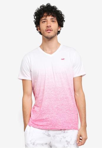 Hollister pink Ombre T-Shirt HO422AA0T1BVMY_1