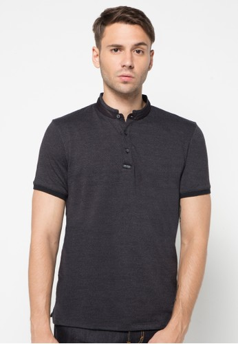 Casual Mandarin Collar Polo