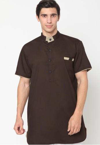 ZAYIDAN brown Zayidan Baju Gamis Muslim Halim - Coklat 994DDAAB59A25BGS_1